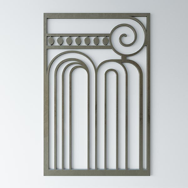 Image of Art Nouveau screen.